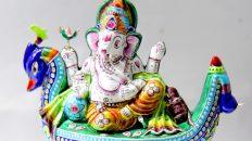 Gulabi Meenkari Ganesh