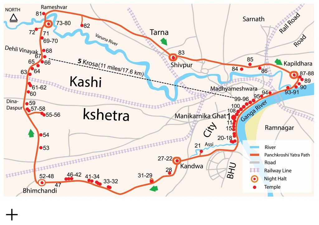Panchkroshi Map English
