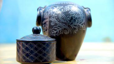Balck Pottery Pots