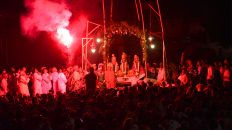 During Ramnagar Ramlila Aarti