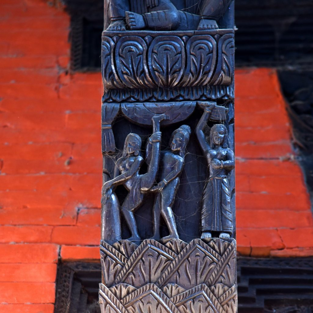 Erotic sculpture in Nepali Temple