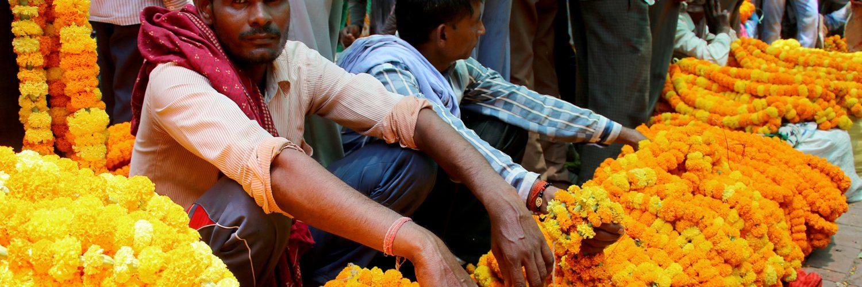 Flower Market Varanasi