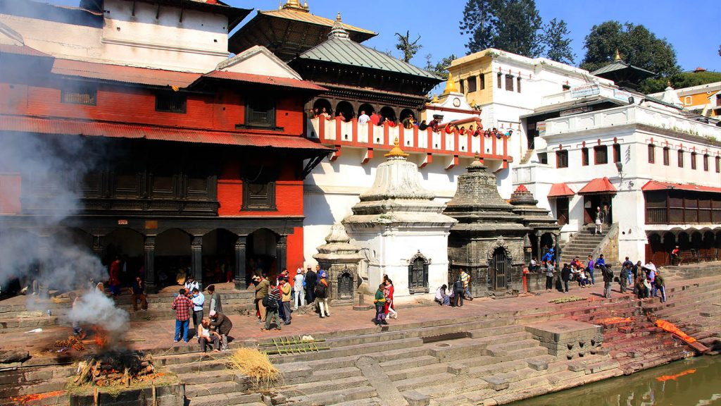 Temple of Pashupatinath and Bagmati River, Nepal